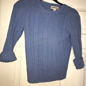 Cropped sky blue sweater